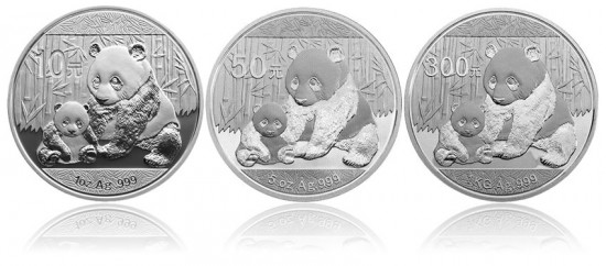 2012 Chinese Panda Silver Coins
