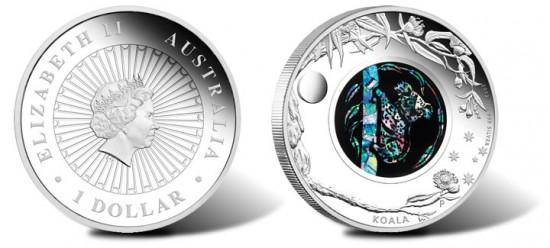 2012 Australian Opal Koala Silver Coin