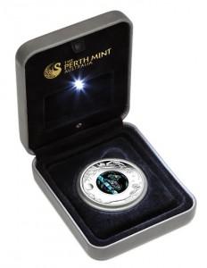 2012 Australian Opal Koala Silver Coin in Case