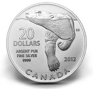 Canadian 2012 $20 Silver Polar Bear Commemorative Coin