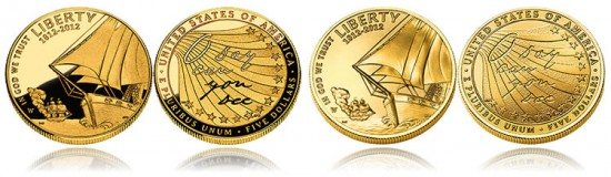 2012 Star-Spangled Banner $5 Gold Coins