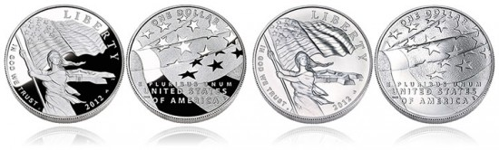 2012 Star-Spangled Banner Silver Dollars