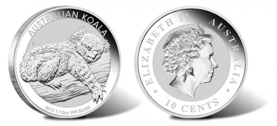 2012 Australian Koala One-Tenth Ounce Silver Coin