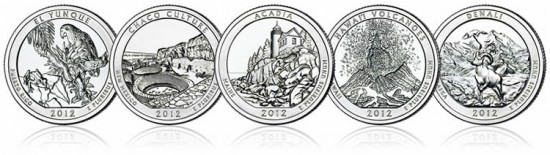2012 America the Beautiful Coins