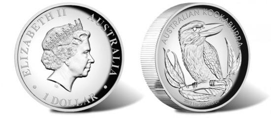 2012 Australian Kookaburra High Relief Silver Coin