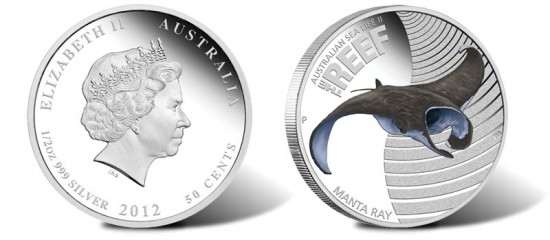 2012 Australian Manta Ray Silver Proof Coin