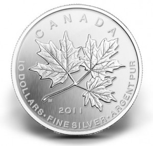 2011 $10 Maple Leaf Forever Silver Coin
