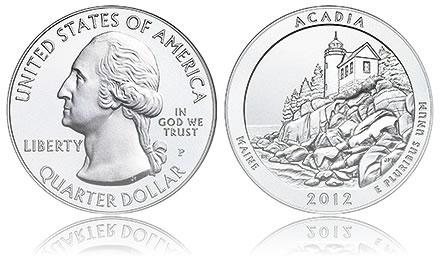 2012-P Acadia 5 Ounce Silver Uncirculated Coin