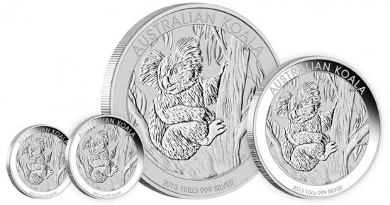 2013 Australian Koala Silver Bullion Coins