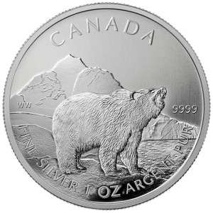 Canadian Wildlife 2011 Canadian Grizzly Silver Bullion Coin