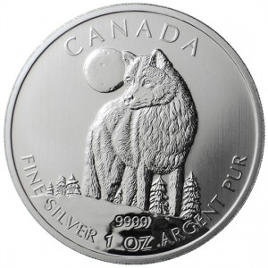 Canadian Wildlife 2011 Canadian Wolf Silver Bullion Coin