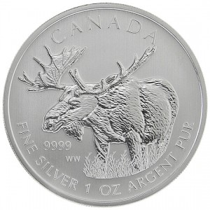 Canadian Wildlife 2012 Canadian Moose Silver Bullion Coin