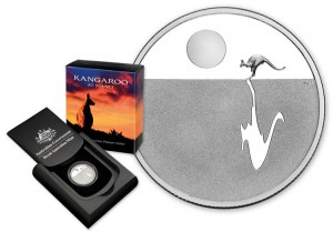 2012 Australian Kangaroo at Sunset Silver Proof Coin