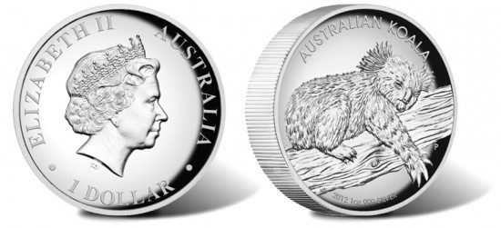 2012 Australian Koala High Relief Silver Coin