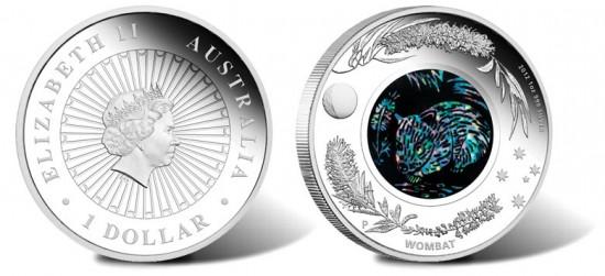 2012 Australian Opal Wombat Silver Coin