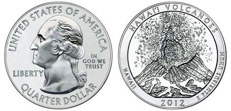 2012 Hawaii Volcanoes 5 Ounce Silver Bullion Coin