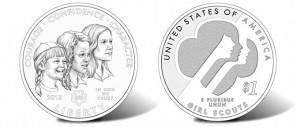 2013 Girl Scouts of the USA Centennial Silver Dollar Designs