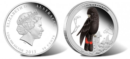 2013 Red-Tailed Black-Cockatoo Silver Coin
