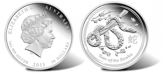 2013 Year of the Snake Silver Proof Coin
