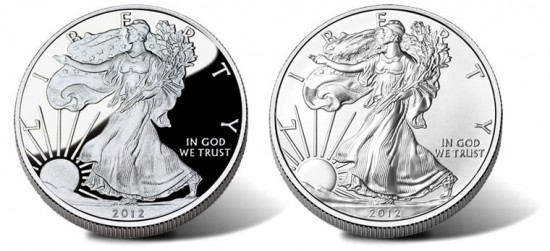 2012-W American Eagle Silver Coins - Proof and Uncirculated