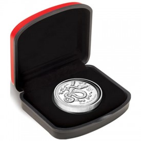 2013 Year of the Snake High Relief Silver Proof Coin in Case