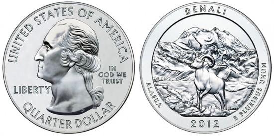 Denali National Park Five Ounce Silver Bullion Coin