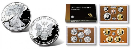 2012-W Proof American Silver Eagle and 2012 Proof Set