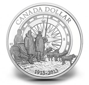 2013 Canadian Arctic Expedition Proof Silver Dollar