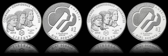 2013 Girl Scouts Silver Dollars - Proof and Uncirculated