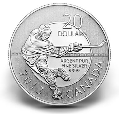 canadian 2013 20 silver hockey commemorative coin at face value sct