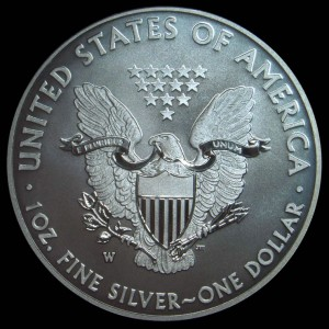 2013-W Enhanced Uncirculated Silver Eagle Reverse