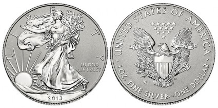 2013-W Reverse Proof American Silver Eagle Coin