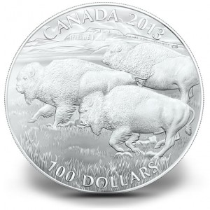 2013 $100 for $100 Bison Silver Coin