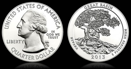 2013 Great Basin National Park 5 Ounce Silver Coin