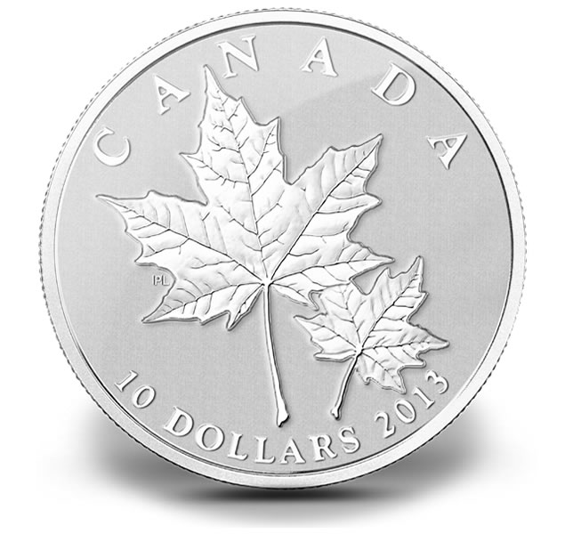 Maple Leaf 2013 2013 Maple Leaf One-half Ounce