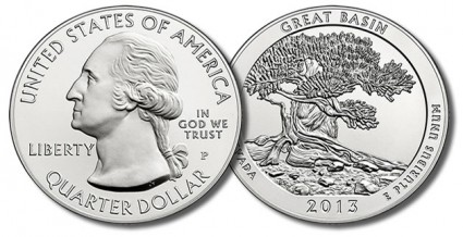 2013-P Great Basin National Park Five Ounce Silver Uncirculated Coin