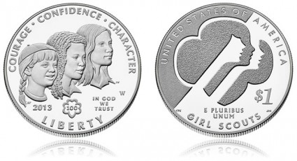 Proof 2013 Girl Scouts Silver Dollar