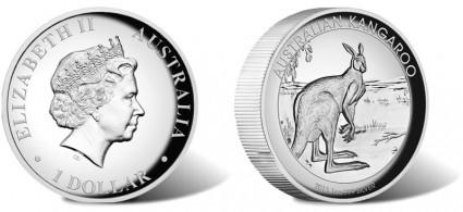 2013 Australian Kangaroo High Relief Silver Coin
