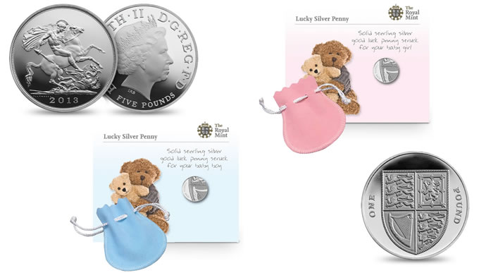 Royal Birth 2013 US Silver Coins and Lucky Silver Penny | SCT