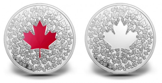 2013 $20 and $3 Canadian Maple Leaf Impression Silver Coins