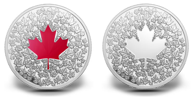 Maple Leaf 2013 2013 $20 And $3 Canadian Maple