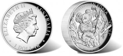 2013 Australian Koala High Relief Silver Coin