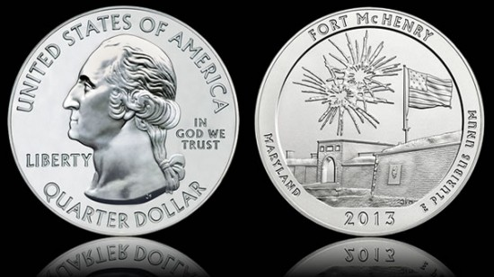 2013 Fort McHenry National Monument and Historic Shrine 5 Ounce Silver Bullion Coin
