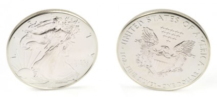 Standing American Silver Eagle Coin