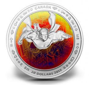 $20 Superman Hologram Silver Coin