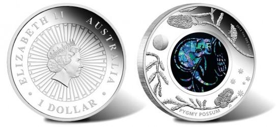 2013 Australian Opal Pygmy Possum Silver Coin