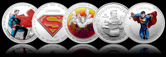 2013 Superman Anniversary Silver Coins