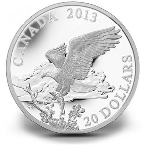 2014 Bald Eagle Returning From the Hunt Fine Silver Coin
