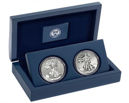 2013 American Silver Eagle Two-Coin Set from West Point