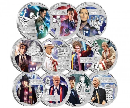 2013 Doctor Who 50th Anniversary 2013 Silver Proof Eleven-Coin Set